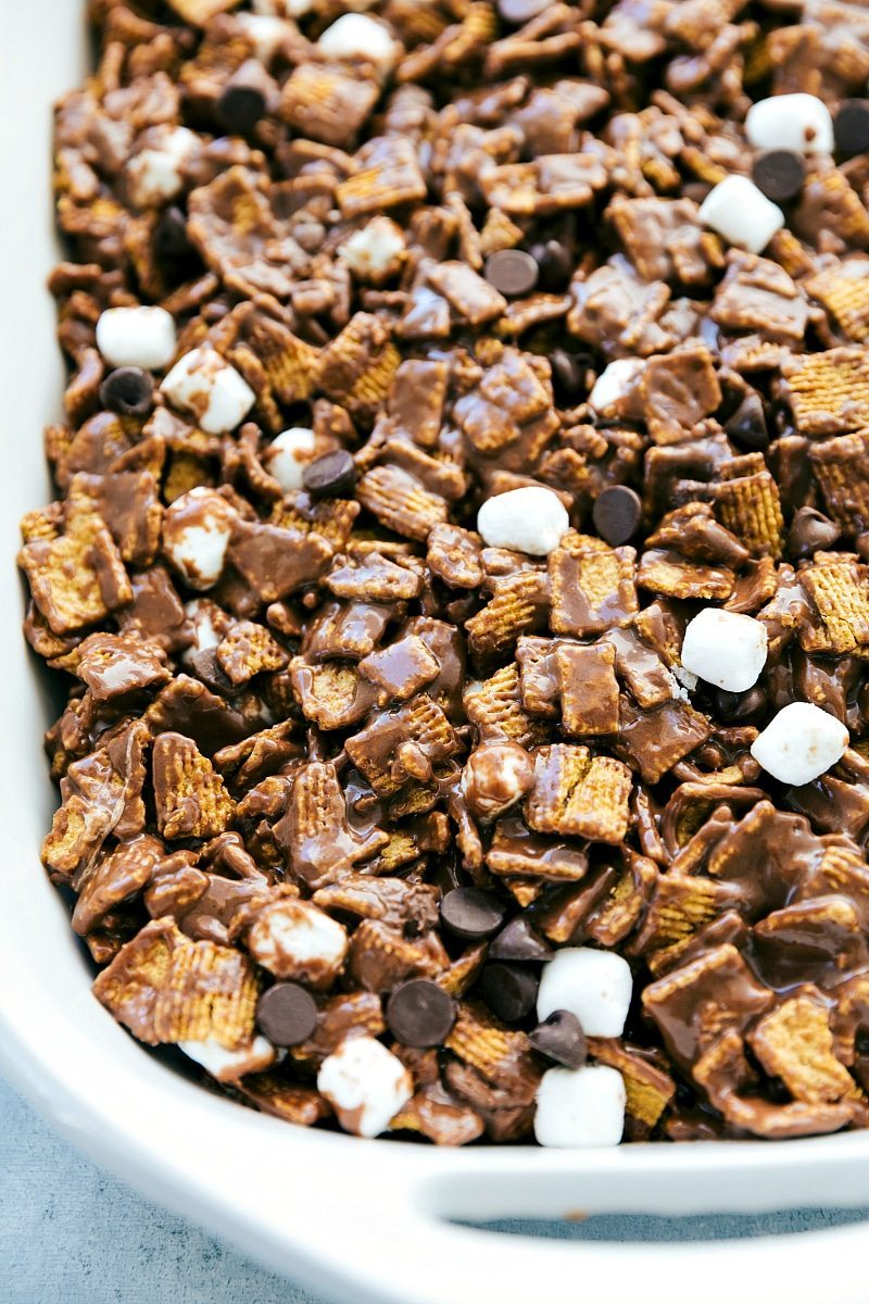 6-ingredient NO BAKE S'mores Bars!! These smores bars are unbelievably delicious and so easy to make! I recipe from chelseasmessyapron.com