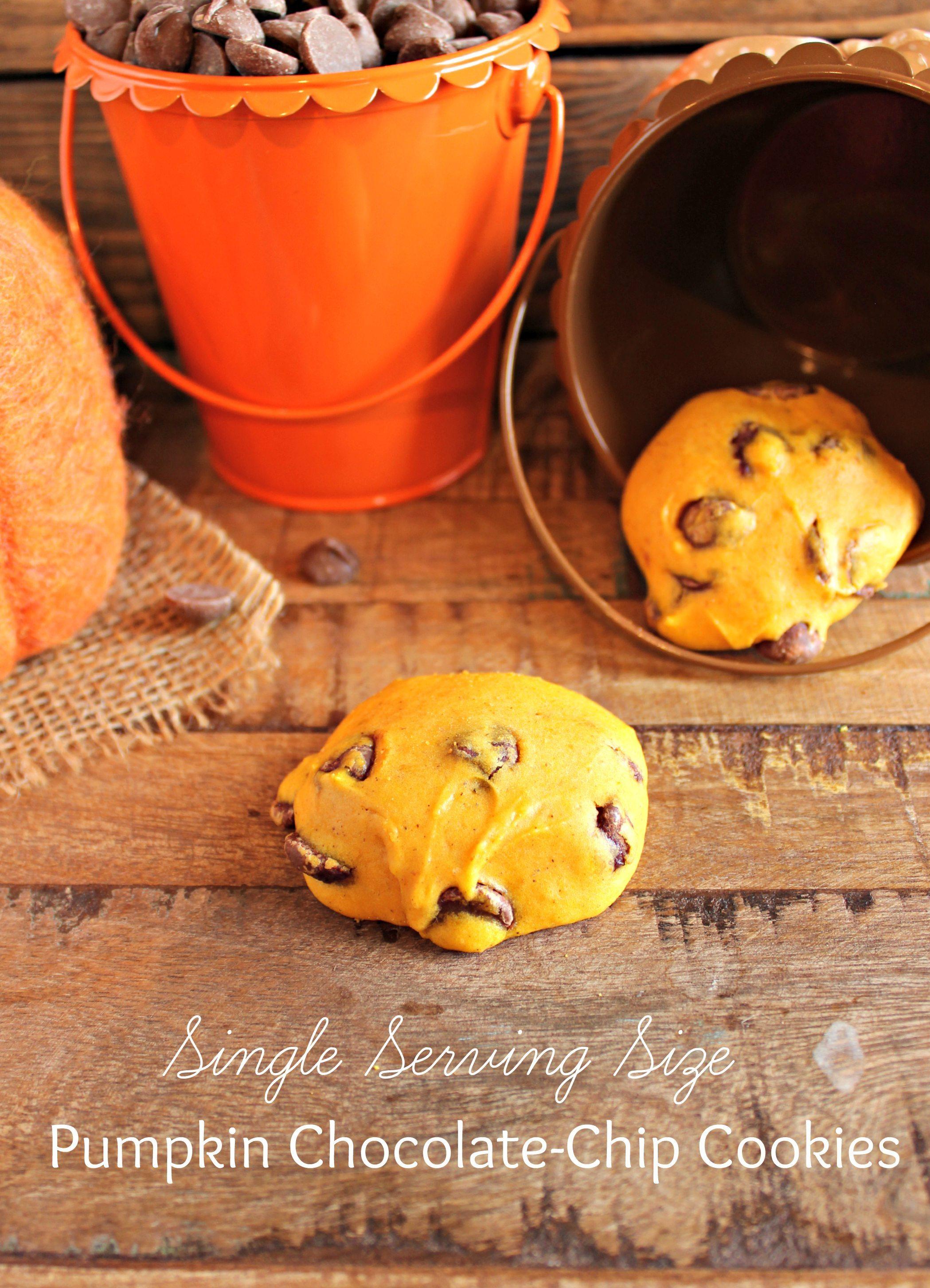 Single-Serving Size} Pumpkin Chocolate Chip Cookies - Chelsea's ...