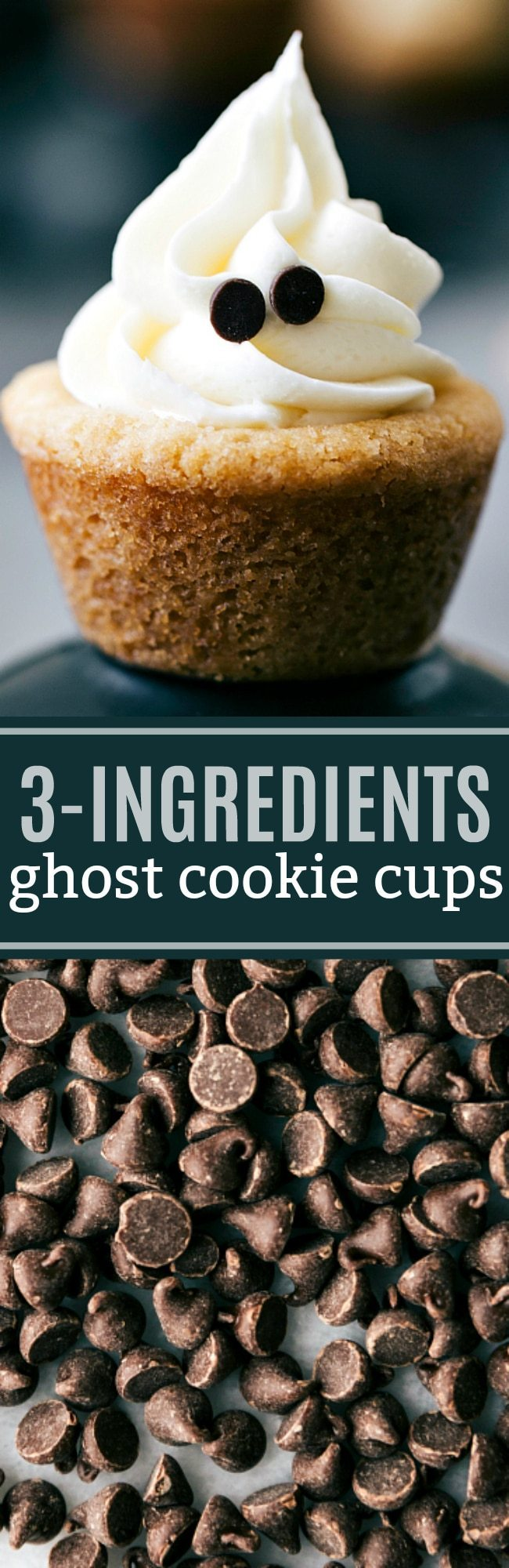 The EASIEST ghost cookie cups! Only THREE ingredients! chelseasmessyapron.com