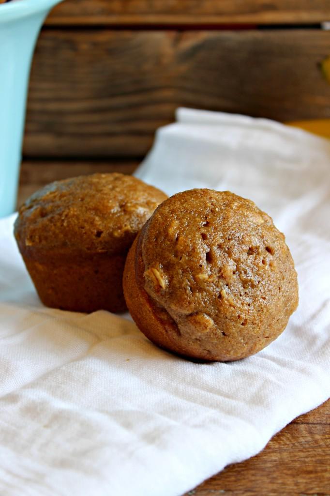 Banana Oat Muffins-Healthy