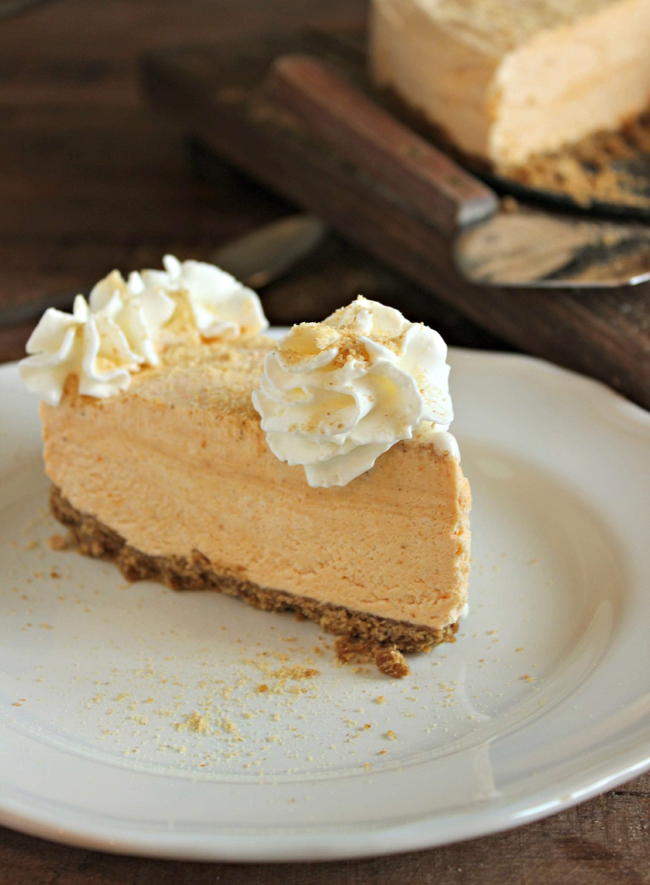 Frozen Pumpkin Pie Cheesecake - Chelsea's Messy Apron