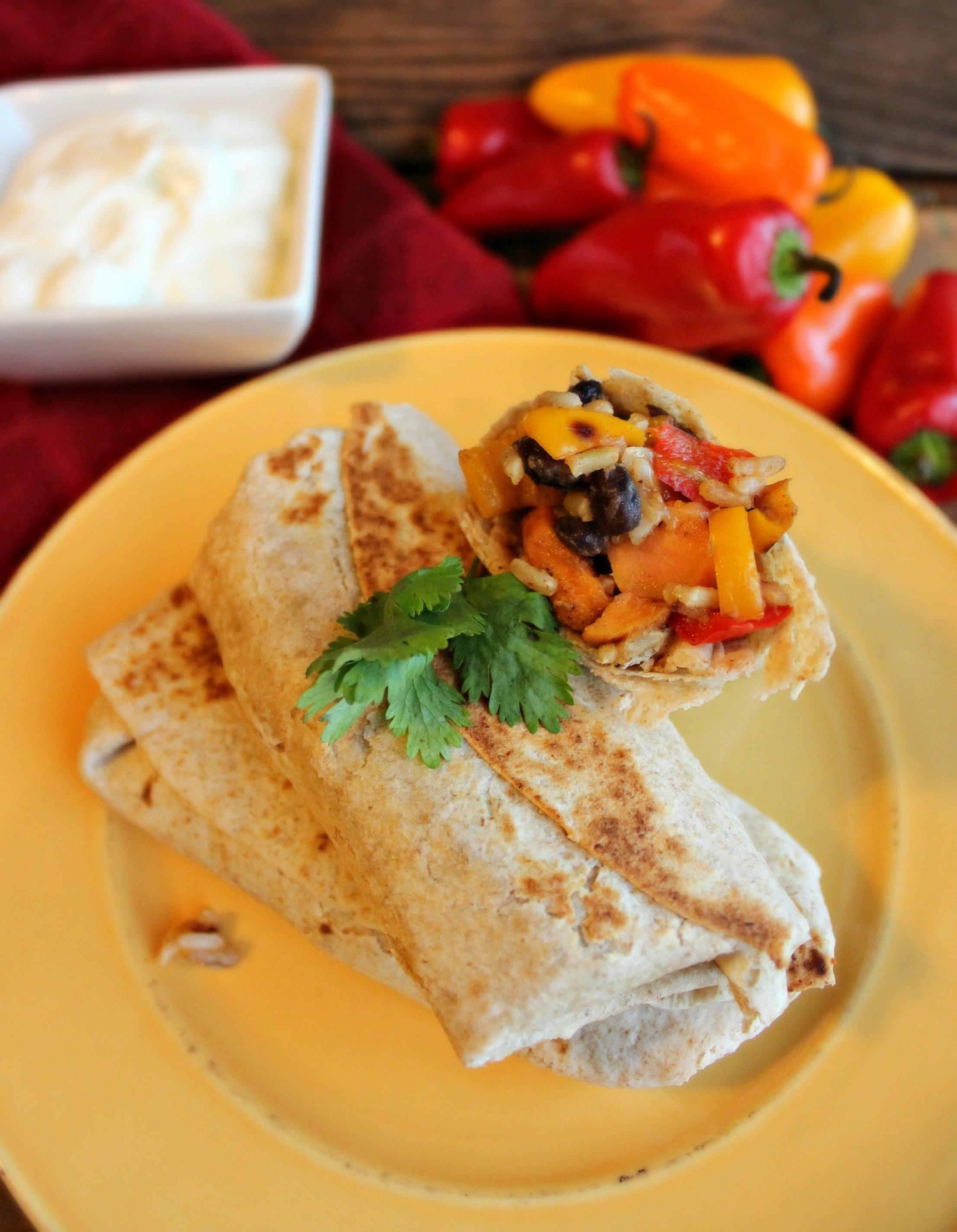 Sweet Potato Burritos