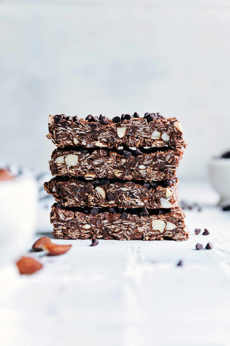 Image of a stack of three Chocolate Granola bars.