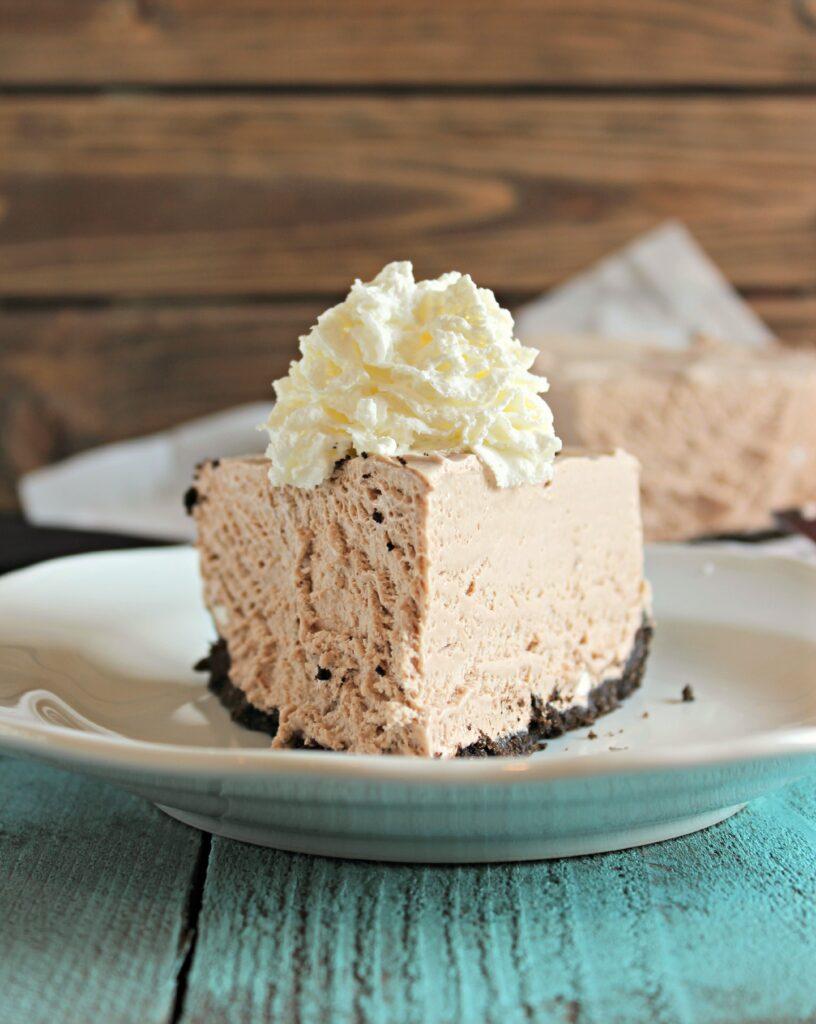 Frozen Hot Cocoa Cheesecake