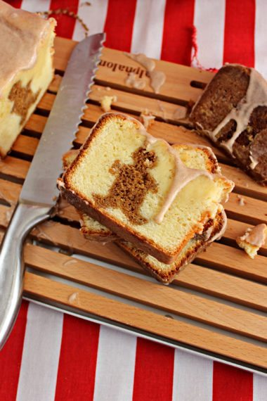 Gingerbread Pound Cake with a Cinnamon-Sugar Glaze