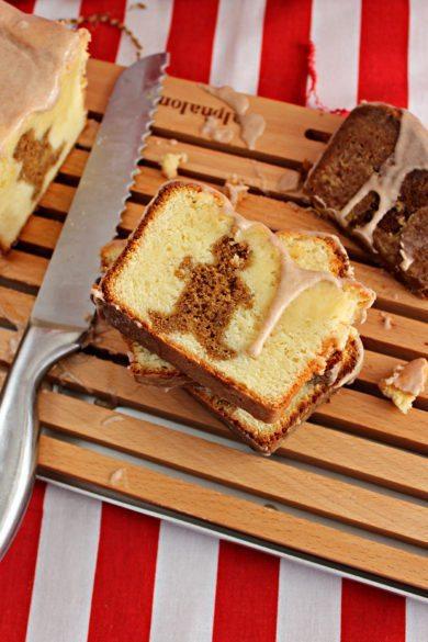 Gingerbread Pound Cake with a Cinnamon-Sugar Glaze