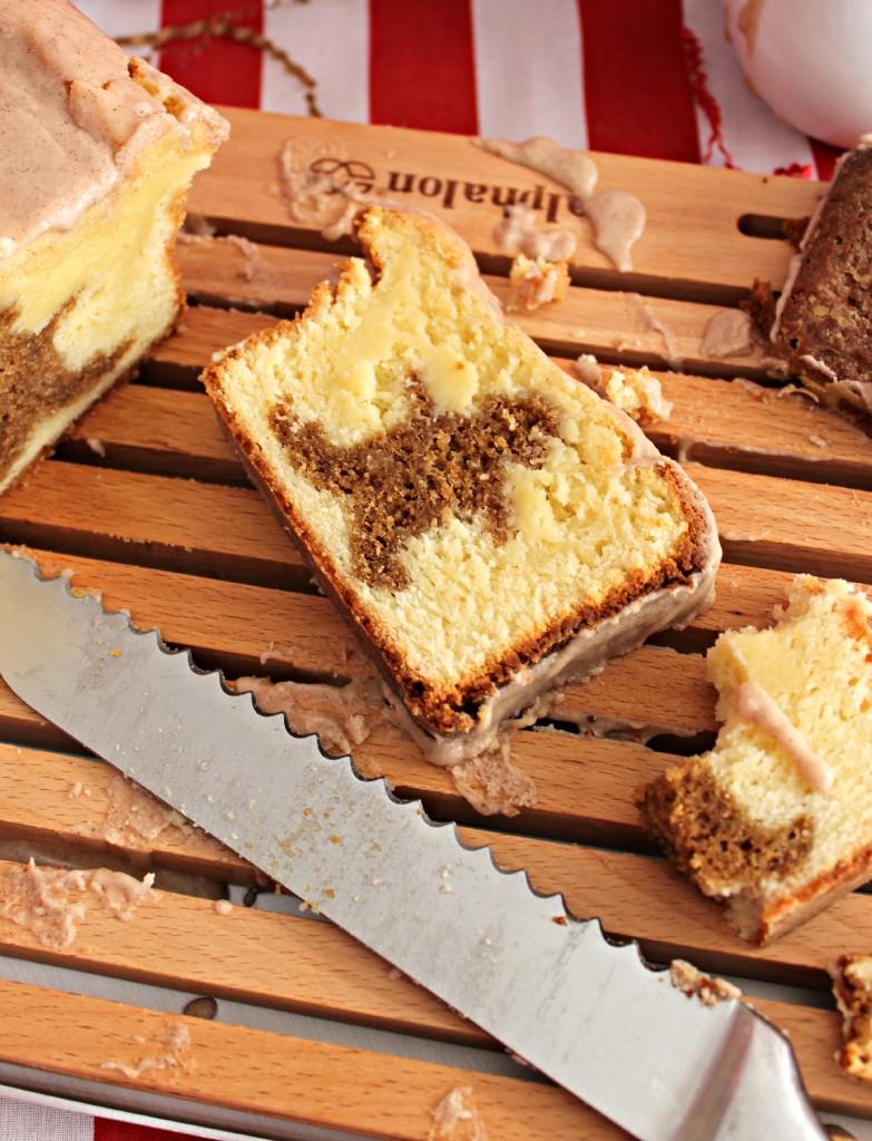 Gingerbread Pound Cake with a Cinnamon Glaze
