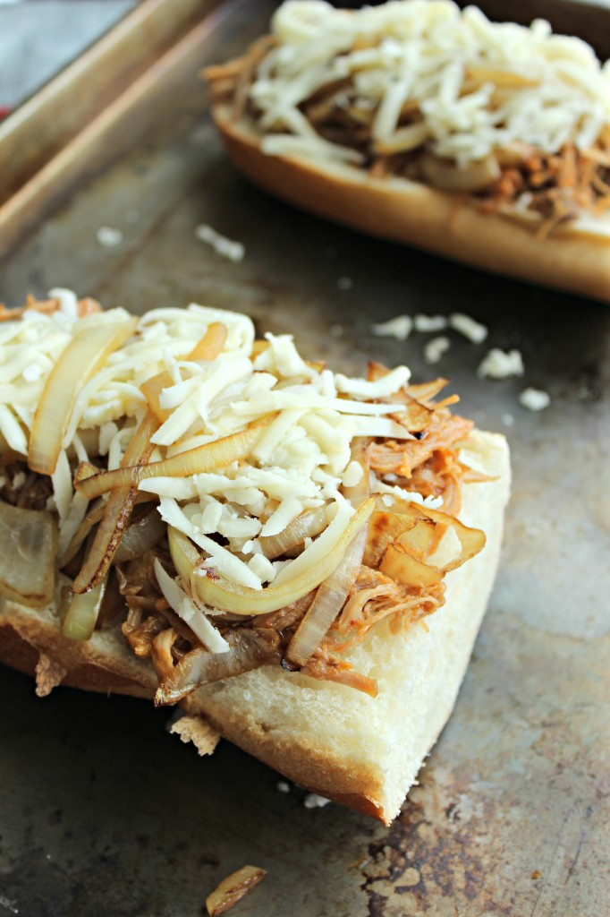 Pork and Onion French Bread Pizza