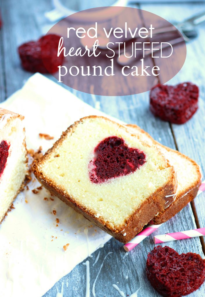 Chelsea's Messy Apron Red Velvet Heart Stuffed Pound Cake