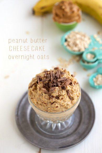 Peanut Butter Cheesecake Overnight Oats