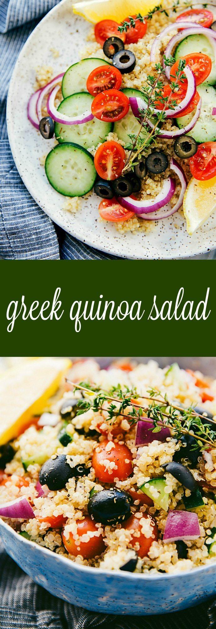 Delicious, healthy, and simple Greek quinoa salad