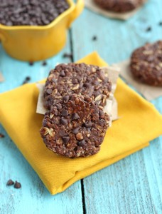 Double Chocolate Healthy No-bake Breakfast Cookies