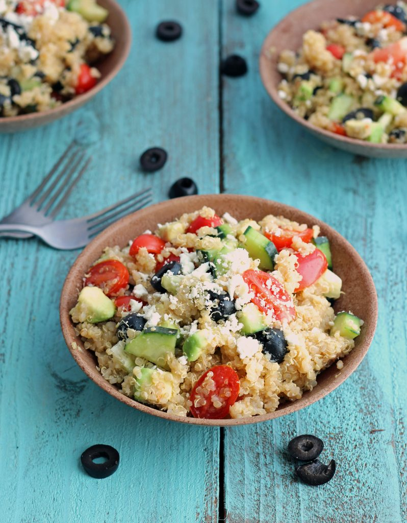 Greek Quinoa Salad on Chelsea's Messy Apron