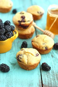 Healthy Blackberry Breakfast Muffins - you won't believe they are healthy they taste so great!