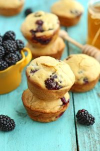 Healthy Blackberry Muffins from Chelsea's Messy Apron