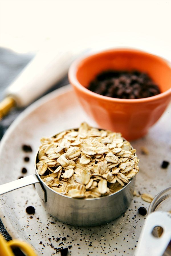 PERFECT on-the-go breakfast. No-Bake Healthy Breakfast Cookies are quick and easy make and so delicious! via chelseasmessyapron.com