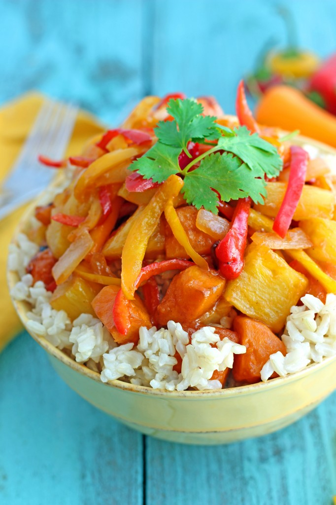 Healthy Vegetarian Sweet and Sour Stir-Fry