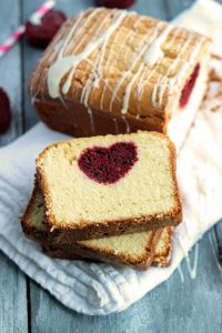 Heart Pound Cake for Valentine's Day by Chelsea's Messy Apron