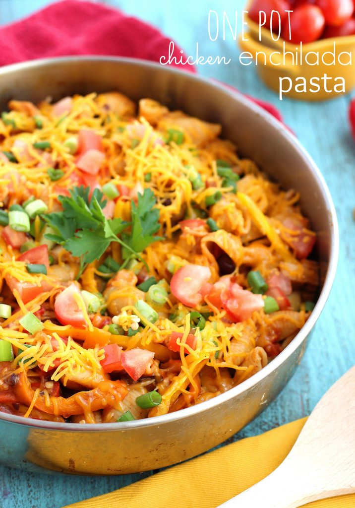 One pot chicken enchilada bake super easy weeknight meal