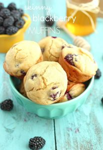 (Skinny) Healthy Breakfast Blackberry Muffins from Chelsea's Messy Apron
