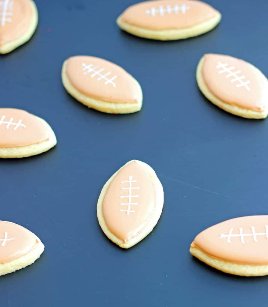 Sugar Cookie Footballs