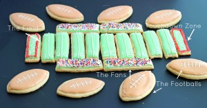 Superbowl Sunday Sugar Cookie Football Field