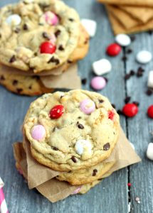 Valentine's S'mores Cookies by Chelsea's Messy Apron