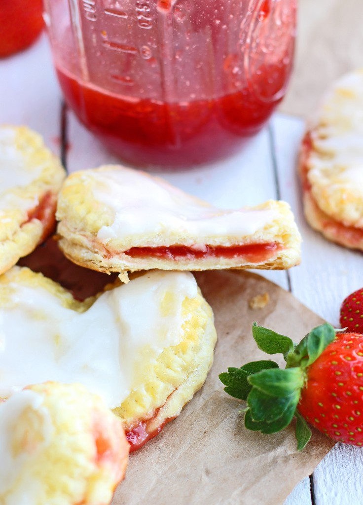 Easy homemade strawberry and cream cheese toaster strudels from Chelsea's Messy Apron