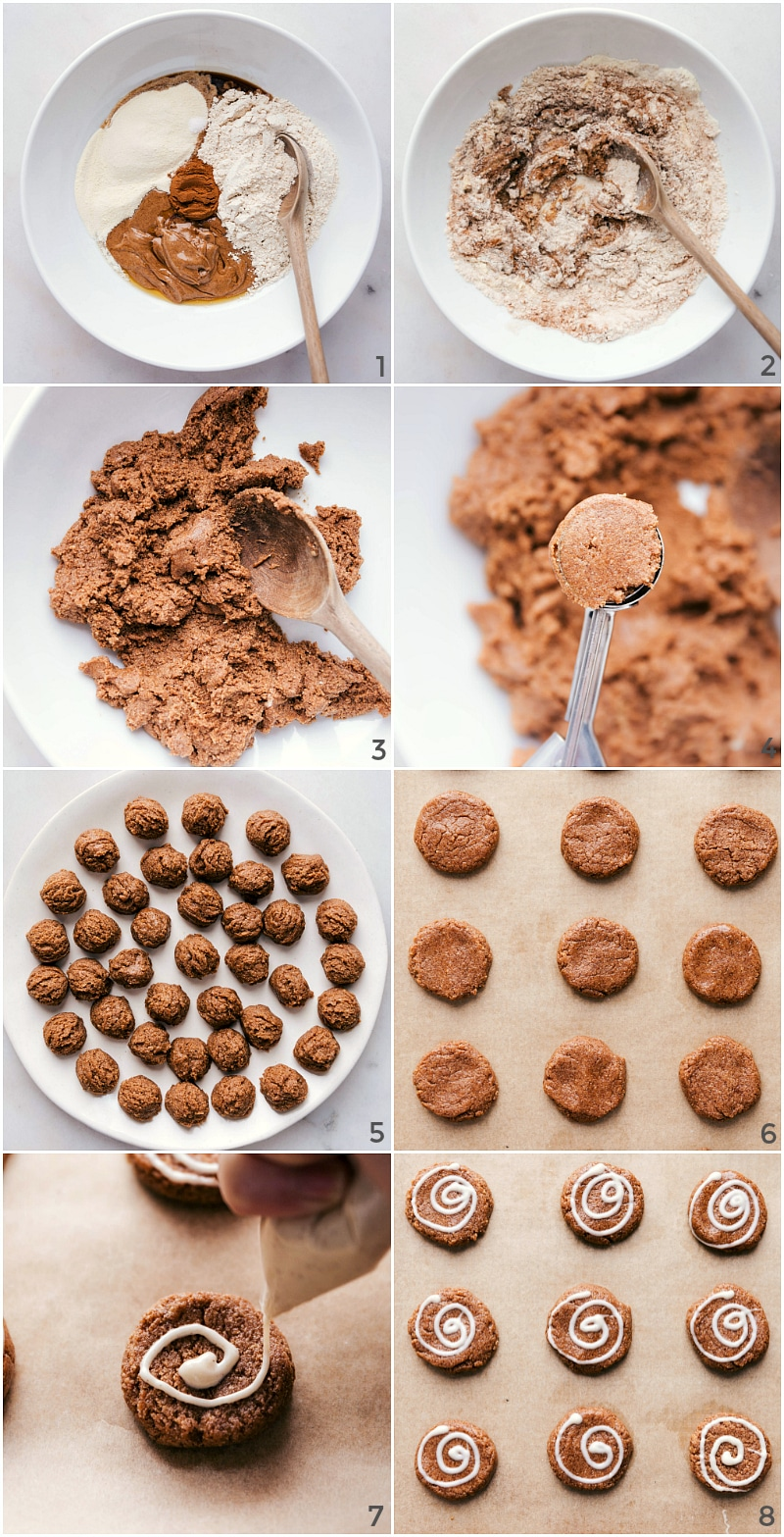 Process shot-- image of how these Protein Breakfast Cookies are made.