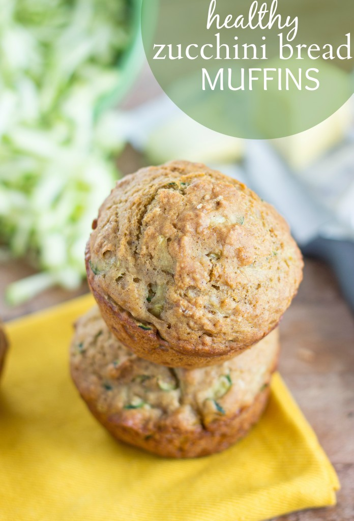 Healthy Zucchini Bread Muffins from Chelsea's Messy Apron