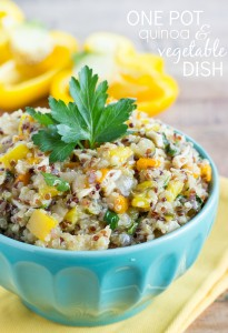 One pot Quinoa and Vegetable Dish