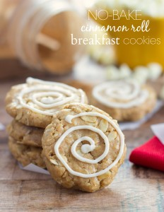 Protein Cinnamon Roll Breakfast Cookies from Chelsea's Messy Apron