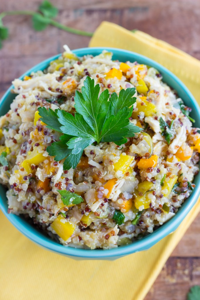 Quinoa and vegetable with chicken ONE POT dish!