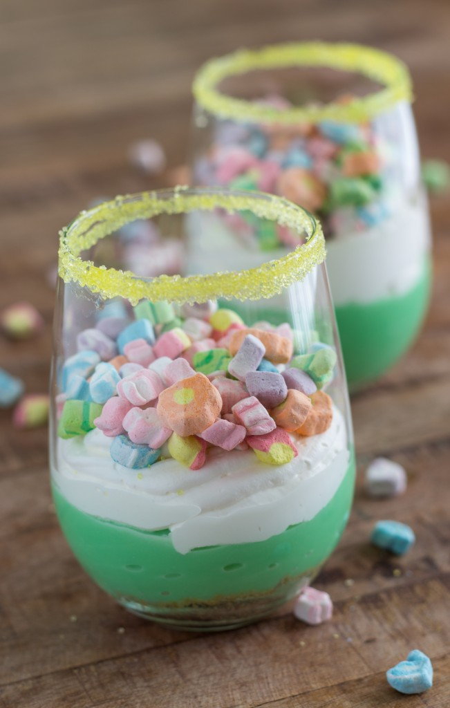 Easy St. Patrick's Day Pudding Trifles