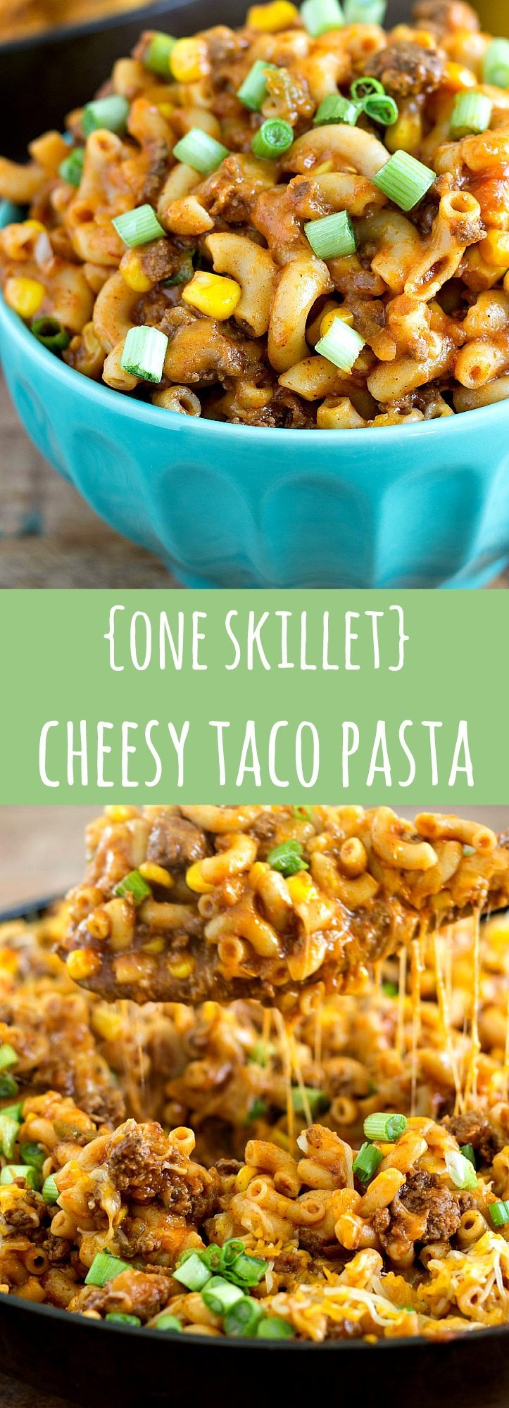 One Skillet Cheesy Taco Pasta