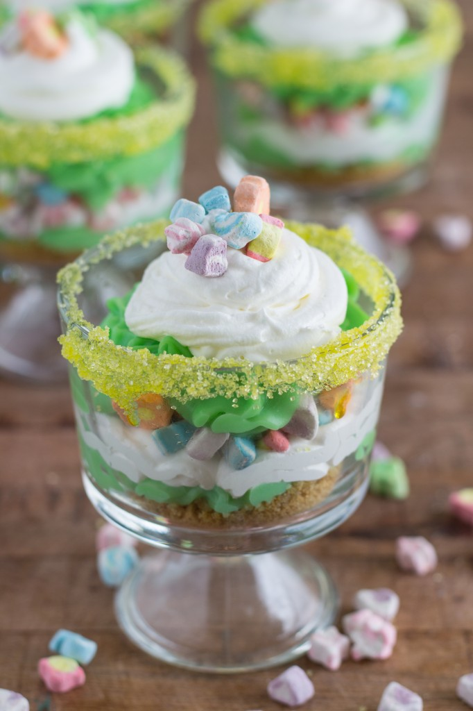 St. Patty's Day Layered Trifles