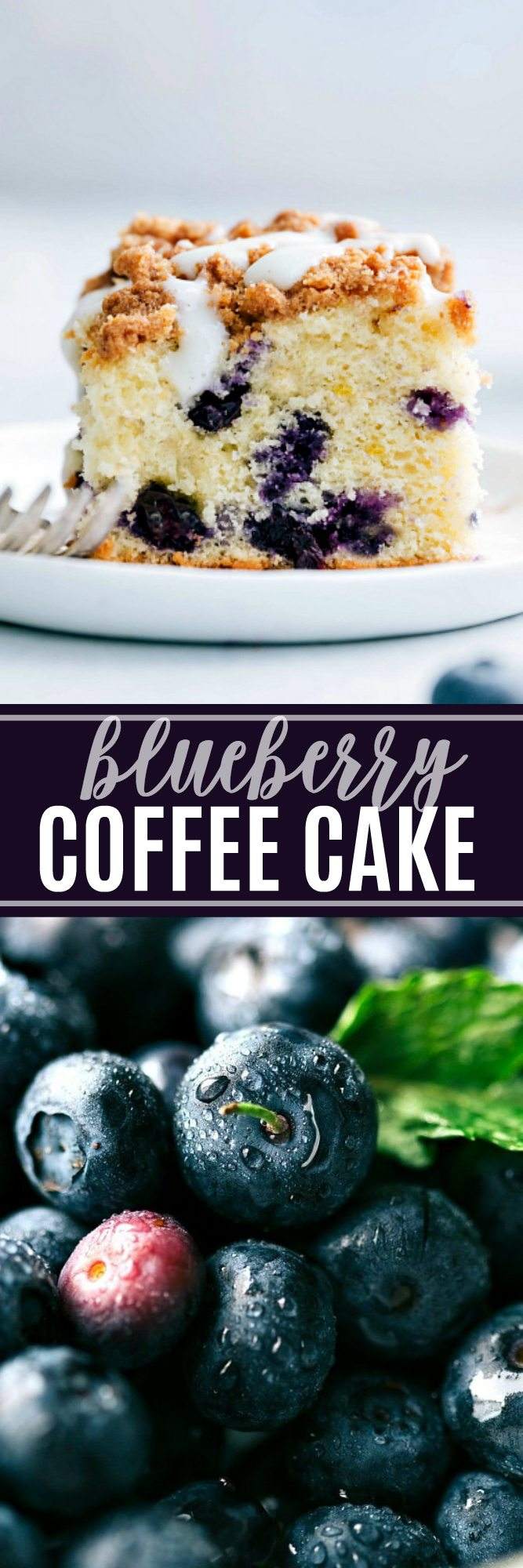 A delicious blueberry coffee cake with an easy glaze via chelseasmessyapron.com