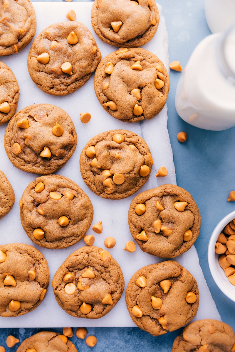 Overhead image of Butterscotch Cookies