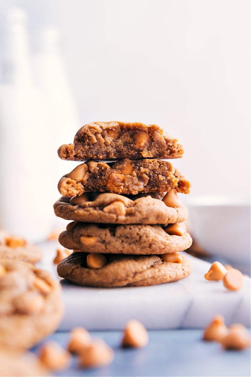 A stack of Butterscotch Cookies