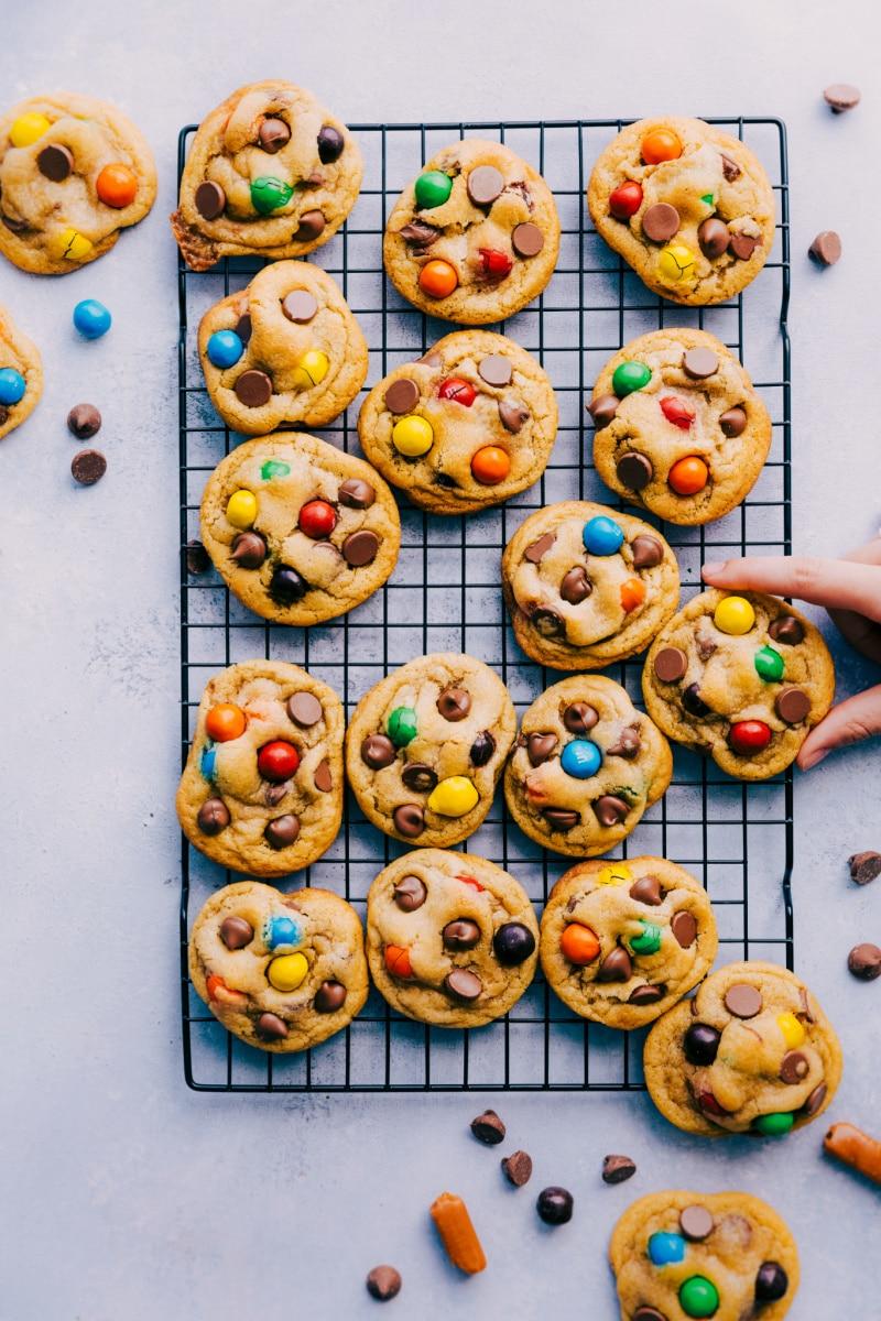 Overhead image of Caramel StuffedCookies