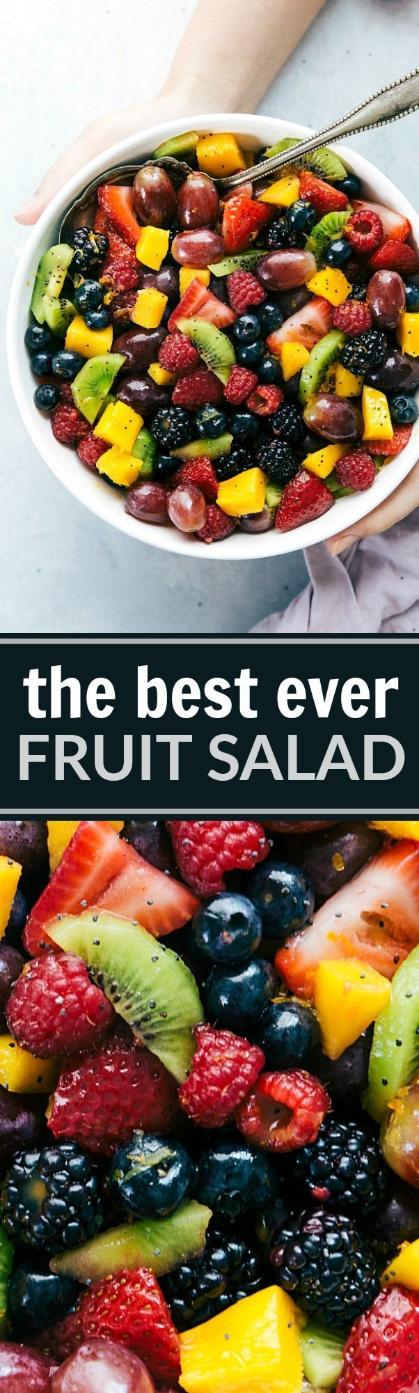 The ultimate BEST EVER FRUIT SALAD! via chelseasmessyapron.com