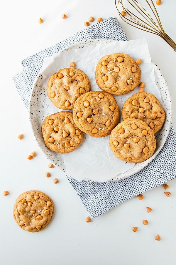 The softest butterscotch cookies