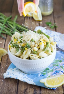 {One Pot} Spring Veggie Pasta Dish