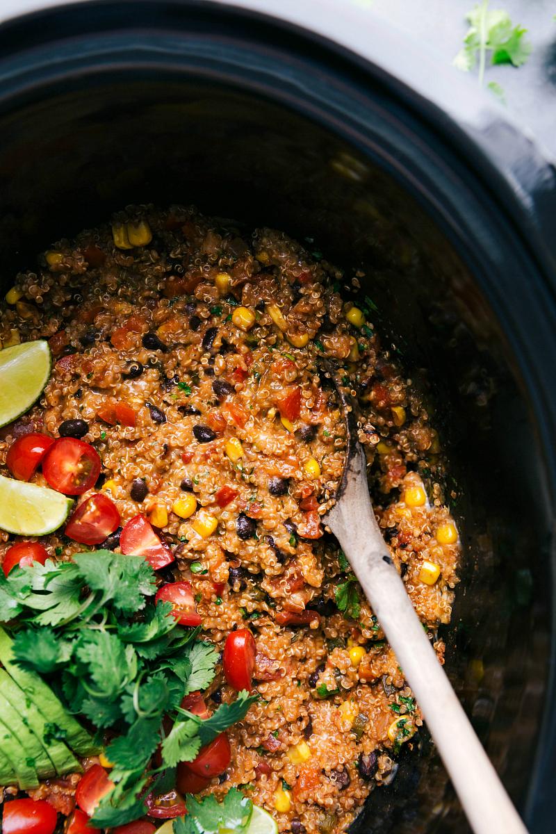 Overhead image of theTex-Mex Quinoa.