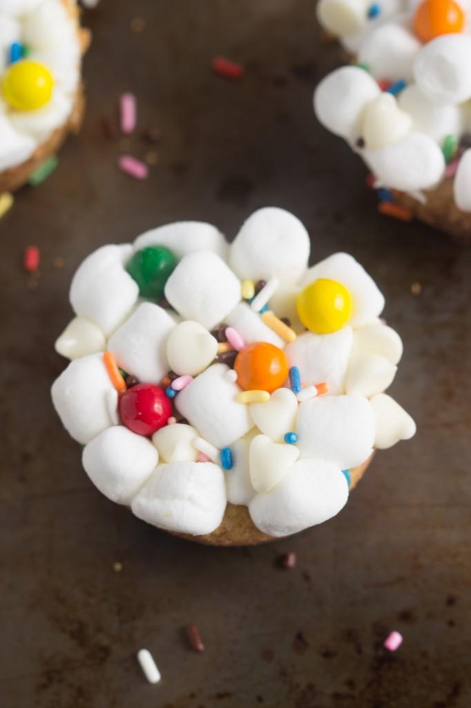 Funfetti Confetti Cookie Cupcakes #cookie #funfetti #cupcake