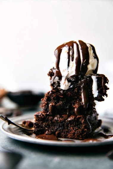 {Skinny} Double-Fudge Brownies (No beans!)