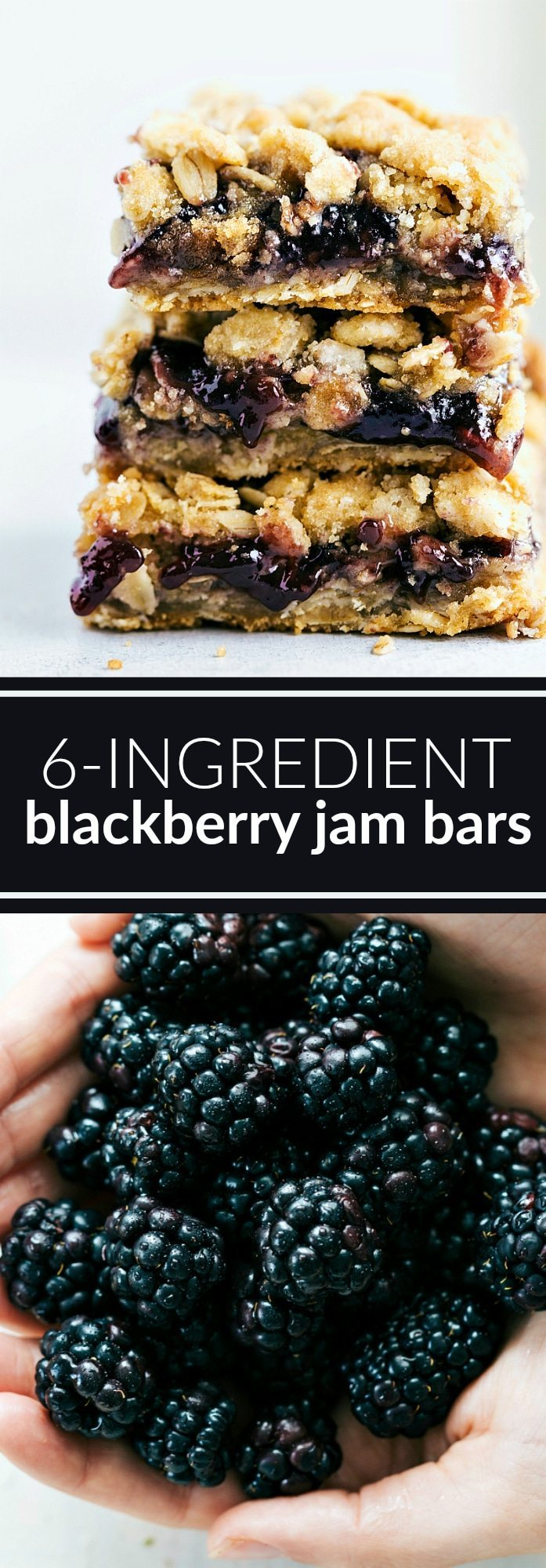 Incredibly simple and delicious oatmeal cookie jam bars. These bars come together in less than 30 minutes and only require 6 ingredients! via chelseasmessyapron.com