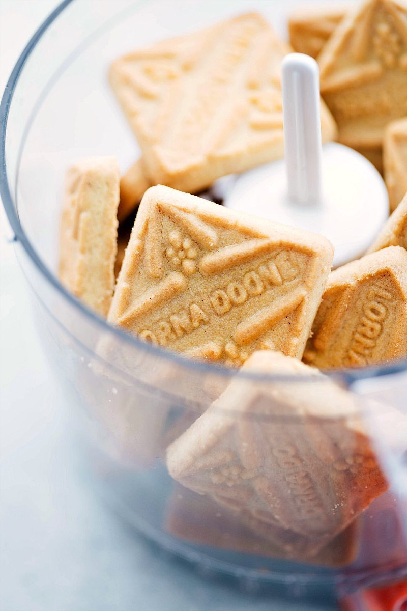Shortbread cookies in food processor