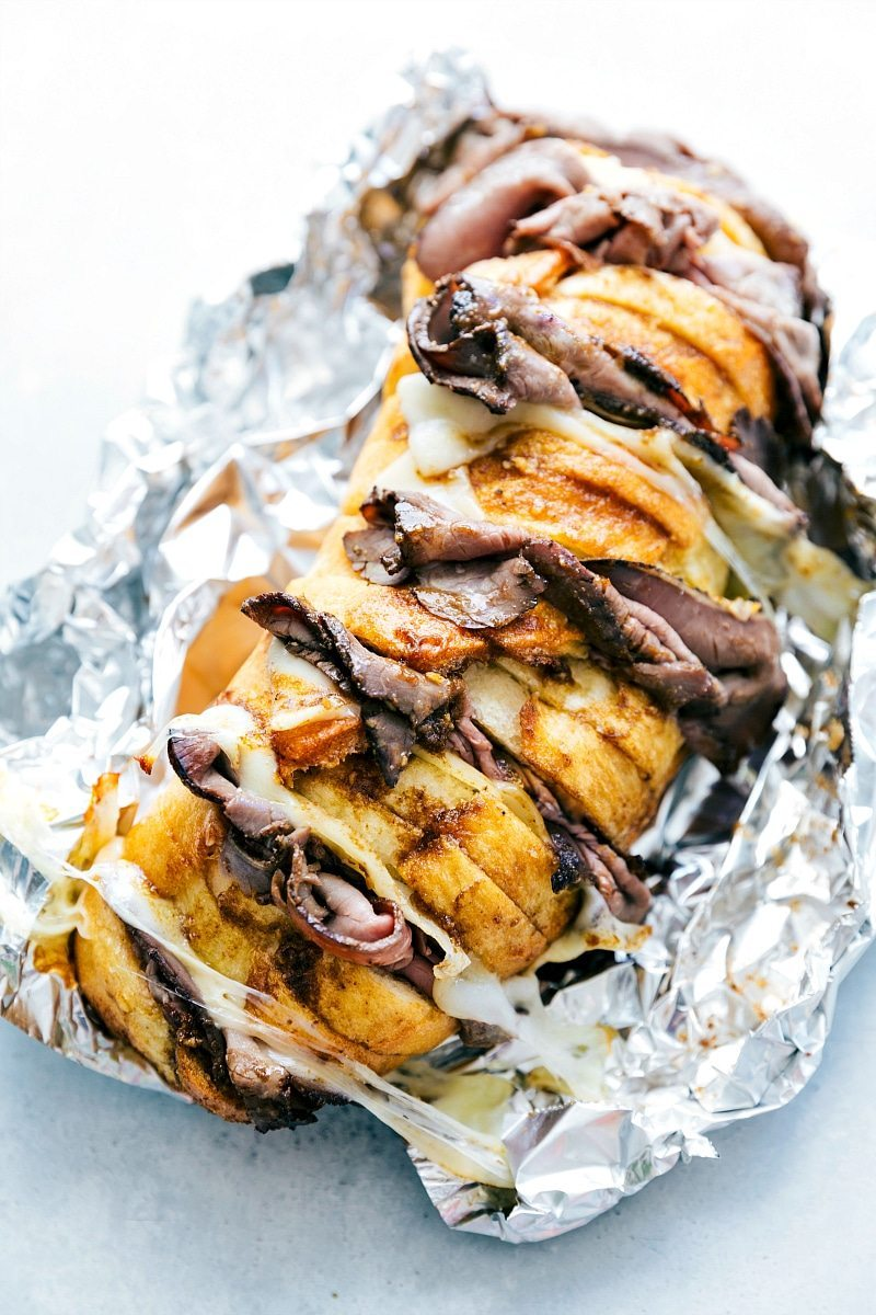 FOIL PACK French Dip Sandwiches! You will be blown away with how good and how EASY these are! Everyone loves them!! chelseasmessyapron.com