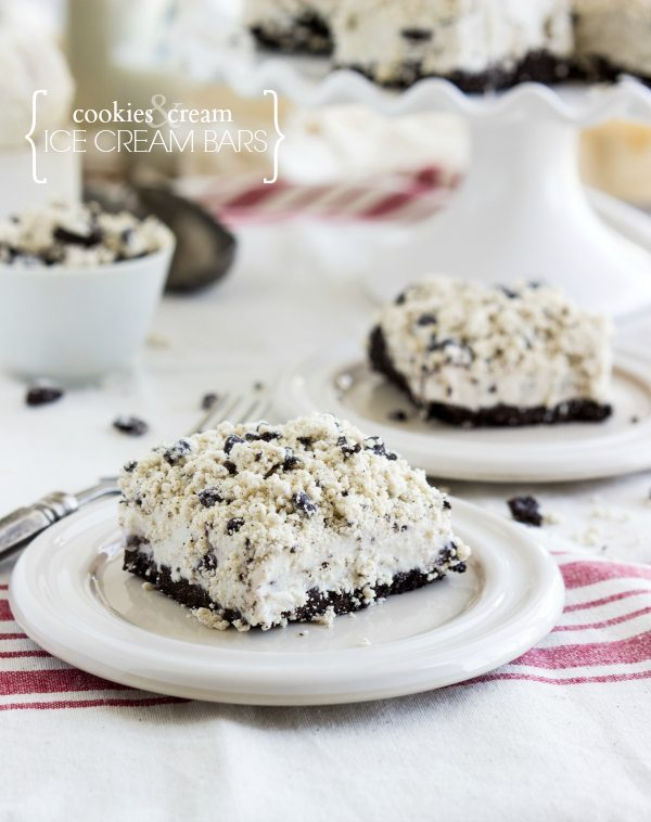 Cookies and cream ice cream bars - a dessert inspired by the famous Oreo Good Humor Bars